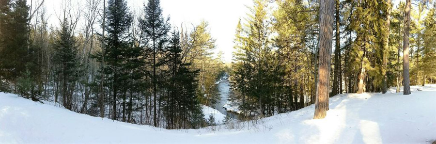 Warm temperatures have the Brule River opening up in the Brule River State Forest - Photo credit: DNR
