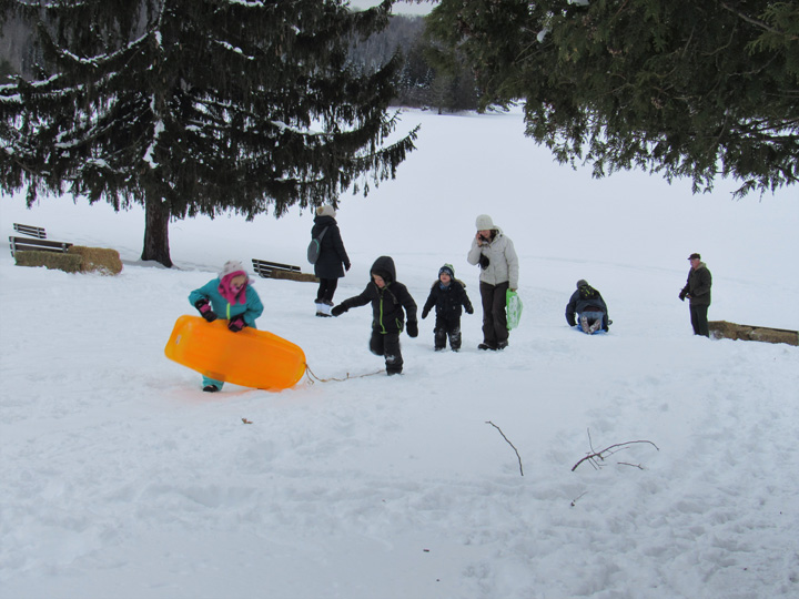 Fresh snow made sledding a popular event last weekend at Pattison State Park's Wintefest celebration. - Photo credit: DNR