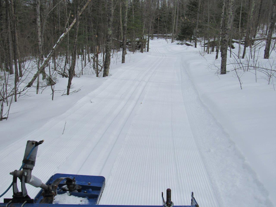 Pattison State Park is one of three northern properties that was able to re-groom ski trails after this week's snowfall. - Photo credit: Gervase Thompson, DNR