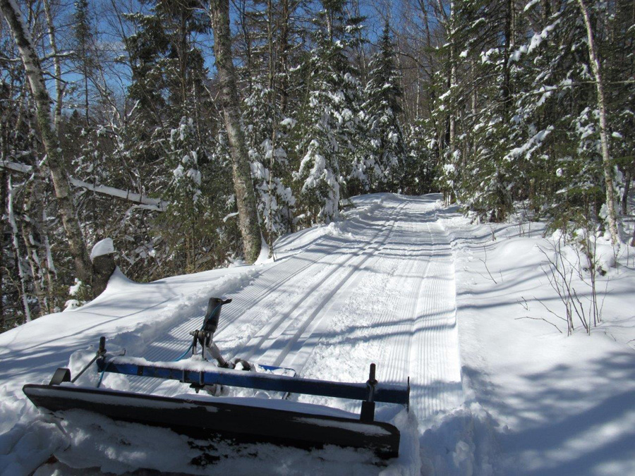 After another 20 inches of snow, ski trails were groomed April 17 at Pattison State Park. - Photo credit: Gervase Thompson, DNR