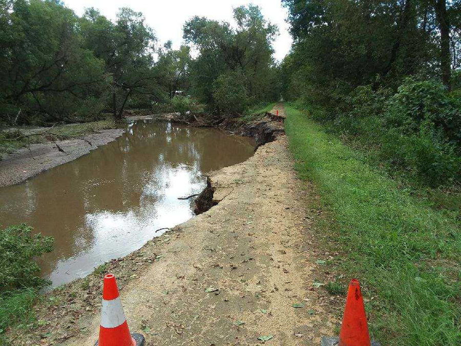 Flood waters washed out sections of Wisconsin's iconic first state trail, the Elroy-Sparta, which remains closed until furthern notice. - Photo credit: DNR
