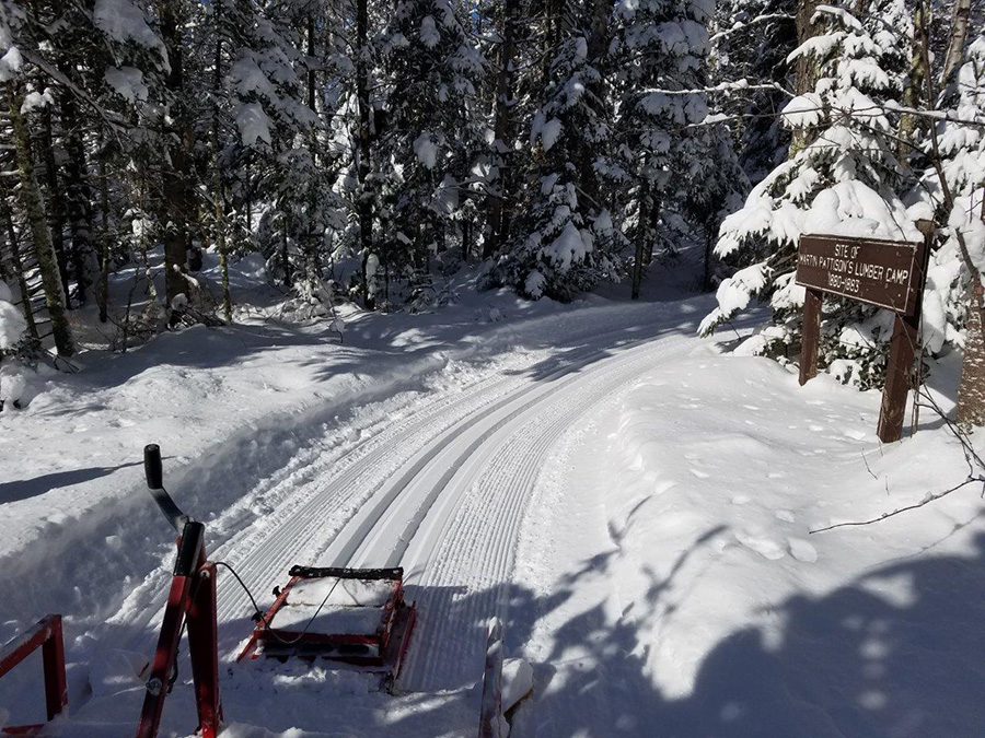 After several snowfalls this week, crews have been busy grooming ski trails.  Many properties are reporting excellent conditions going into the weekend. - Photo credit: DNR