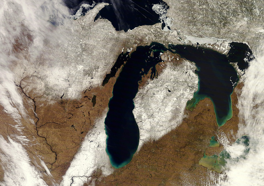 April 15, 2019 Wisconsin snow cover. - Photo credit: NOAA