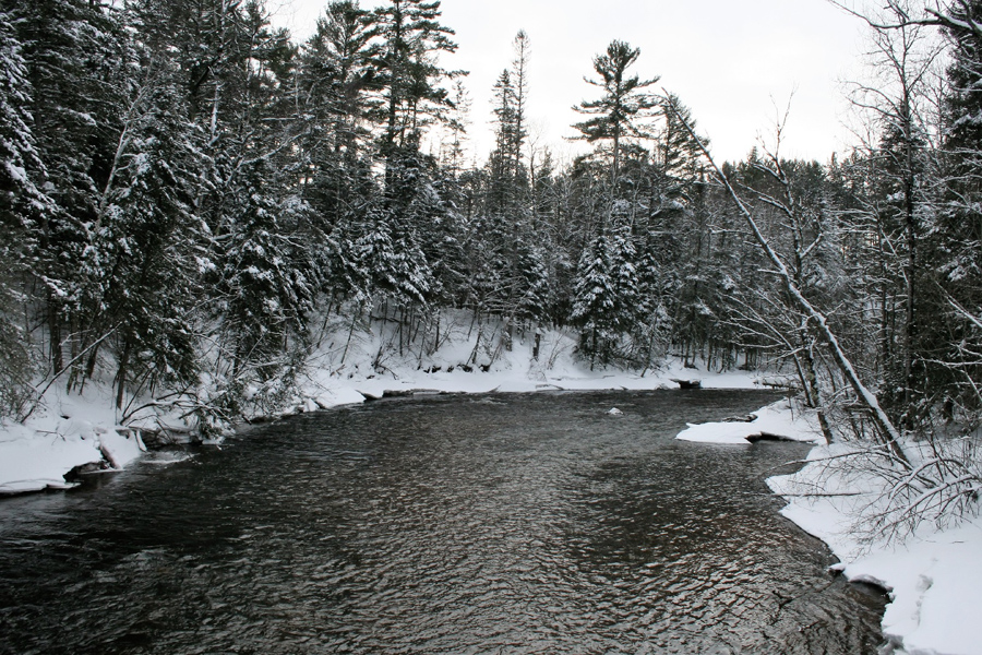 The Bois Brule River at the Winneboujou Bridge. - Photo credit: DNR