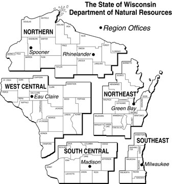 Wisconsin Department of Natural Resources Regions