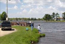 Shore fishing at one of the many public parks located on Lake Tomah