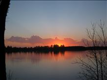 Lake Montanis of Barron County at Sunset