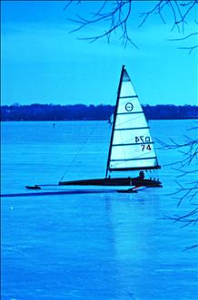 Lake Mendota ice boat