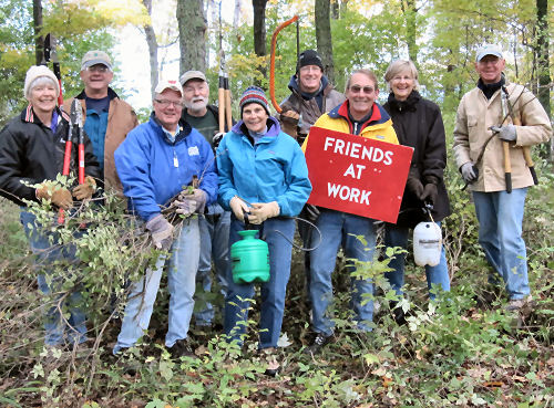 Volunteers helped fix up Peninsula State Park at a past Work*Play*Earth Day event