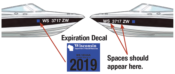 Displaying WI Registration Expiration Decals