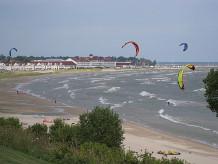 Wind Surfing On Lake Michigan In Sheboygan Wisconsin