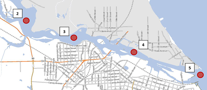 map of PFAS study for Menominee River