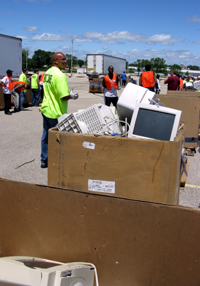 Electronics collection event