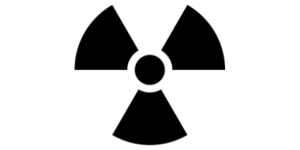 Photo of radioactive symbol