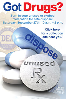 National Prescription Drug Takeback Day is Saturday, September 27th, 2014 [exit DNR]