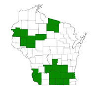 Known county distribution of wild chervil