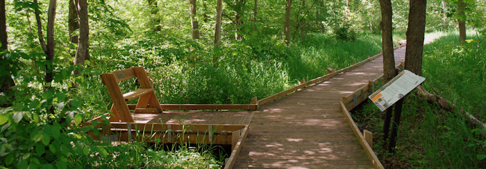 Ephemeral Trail and boardwalk at Mead Wildlife Area