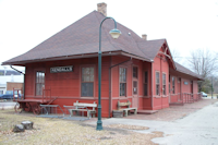 Kendall Depot on the Elroy-Sparta State Trail