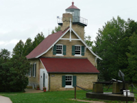 Eagle Bluff lighthouse at Peninsula State Park