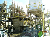 Water processing equipment at an industrial sand mine.