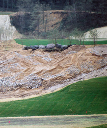 quarry being reclaimed for use as a golf course