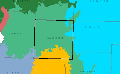 Barron County graphic