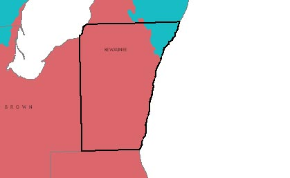 Kewaunee County graphic