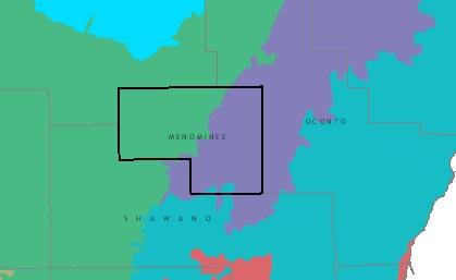 Menominee County graphic