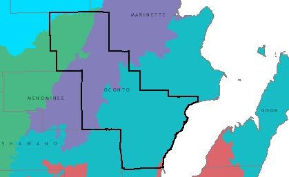 Oconto County graphic