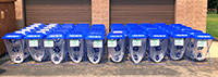 Hilltopper special event recycling bins