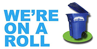 "West Allis ""We're on a roll"" logo"