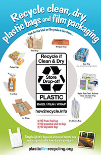 reducing reusing and recycling plastic bags and wrap wisconsin dnr poster promoting plastic film and bag recycling
