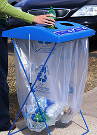 special event recycling bin