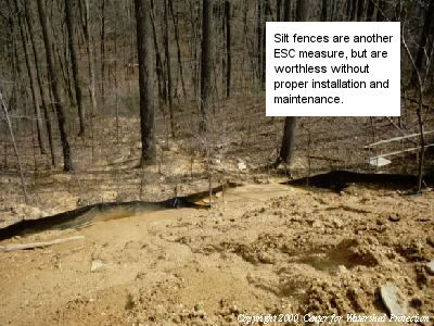 construction and long term storm water management photo essay  an improper silt fence installation