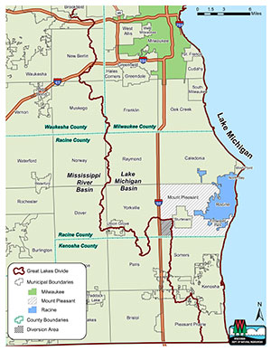 Racine Diversion Boundaries