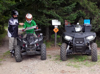 ATV operators enjoying the trails.