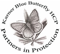 Karner blue butterfly HCP Partners in Protection logo