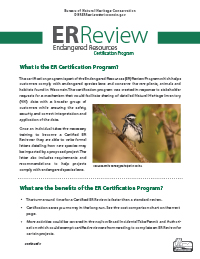 Thumbnail of ER Certification Program flyer