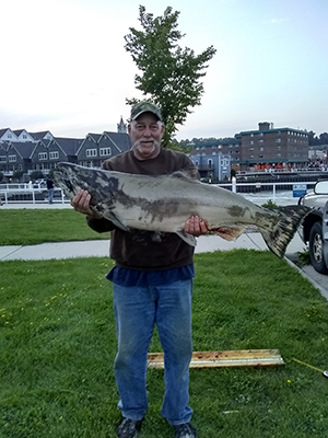 Chinook caught off of Port Washington