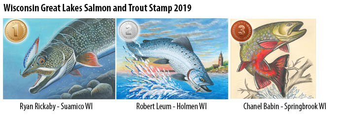 Great Lakes Salmon and Trout Stamp Finalists 2018