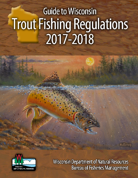 Inland trout fishing regulations wisconsin dnr for Mi dnr fishing report