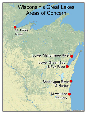 Area of concern map locations
