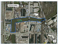 The Kinnickinnic River project area.