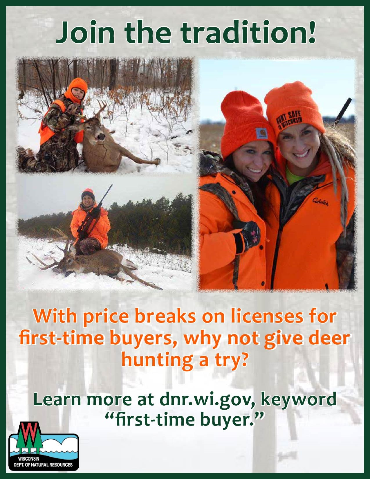 Deer hunting wisconsin dnr for Wisconsin dnr fishing license online
