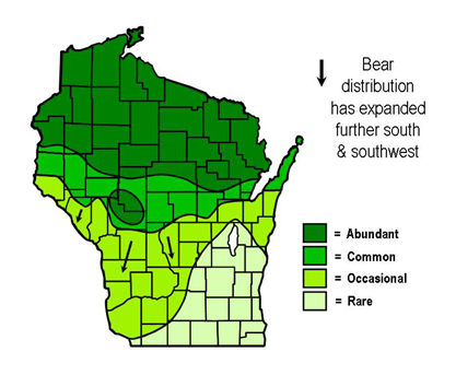Bear Population And Distribution  Wisconsin DNR