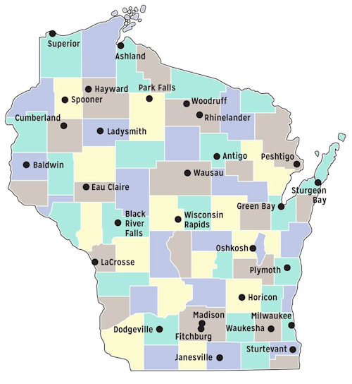 Public Access Lands PDFs Wisconsin DNR - Map of northern wisconsin lakes