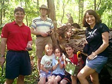 Group in park with geocache