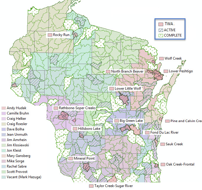 Water Plan Map Wisconsin DNR - Map of wi