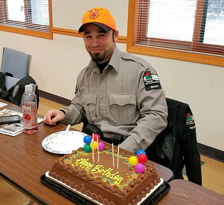 <b>Warden Phil Brown</b> spent his November 25th birthday with the hunters on the outdoor beat. Warden Phil serves the area around the beautiful Brule River. Happy Birthday, Warden Phil. - Photo credit: WDNR Warden Phil Brown