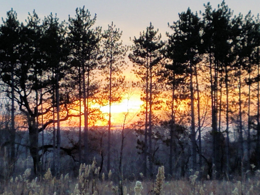 <b>Warden Steven Sanidas</b>got this sunset view while he was on state land in the Mukwonago River Unit of the Kettle Moraine State Forest.  Here is hoping your 9-day season was an enjoyable one. Stay safe out there! - Photo credit: WDNR Warden Steven Sanidas